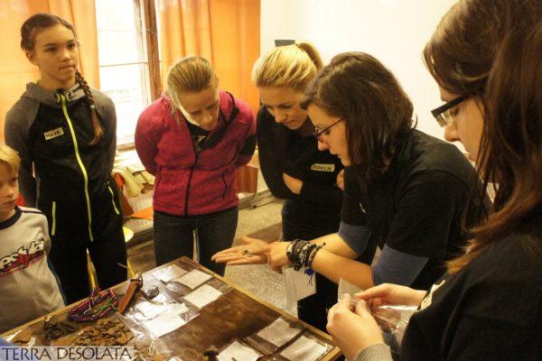 Prezentacja wykopanych zabytków archeologicznych z Wólki Prusniowskiej