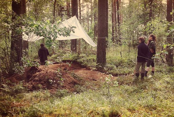 Wykopaliska na stanowisku w Wólce Prusinowskiej