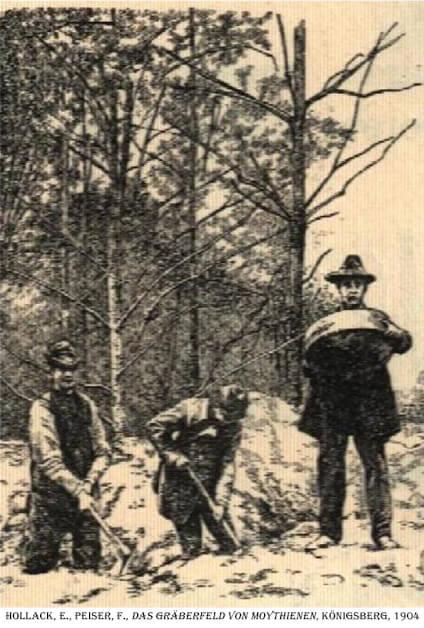 Przebieg prac wykopaliskowych w Mojtynach